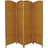 Oriental Furniture Best Good Great Light Weight Room Divider, 6-Feet Tall Diamond Weave Natural Fiber Folding Screen