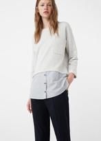 MANGO Shirt Hem Sweatshirt