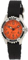 Momentum Women's 1M-DV01O8B M1 Orange Dial Black Re-Ply Nylon Dive Watch