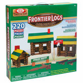 IDEAL Ideal Frontier Logs Classic Wood 220 Piece Discovery Toy