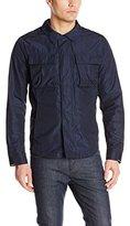 Nautica Men's Printed Shirt Jacket