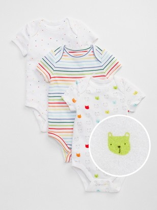 Gap Baby First Favorite Bear Stripe Bodysuit (3-Pack)