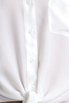 Equipment Diem Tie Front Super Vintage Washed Bright White