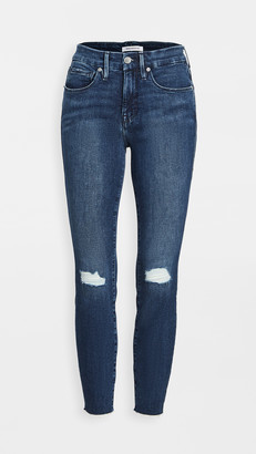 Good American Good Legs Crop Jeans with Raw Edge