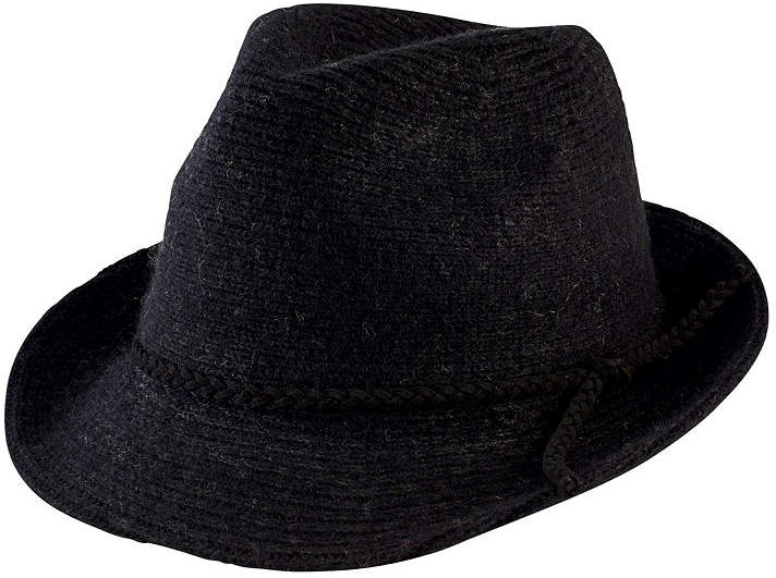 724bb331c Women's Knit Fedora with Faux Suede Band