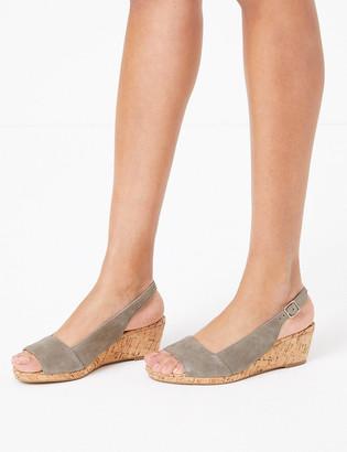 Marks and Spencer Suede Wedge Heel Slingback Sandals