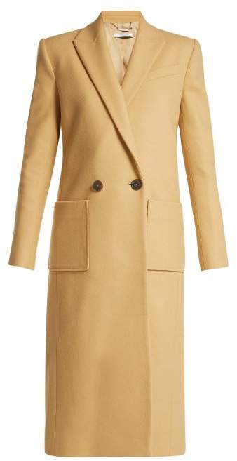 Givenchy Double Breasted Wool Coat - Womens - Light Brown