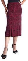 George Simonton Printed Milky Knit Gored Skirt