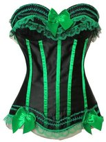 Grebrafan Classic Ladies Stripe Satin Boned Waist Shape Corset Bustiers Clubwear (US(12-14)2XL, )