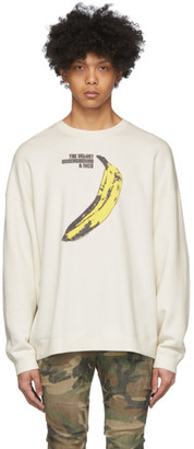 R 13 Off-White The Velvet Underground Edition Banana Oversized Sweatshirt