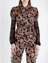 Rodarte Floral-print satin shirt