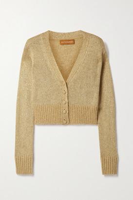 Altuzarra Isla Cropped Sequin-embellished Knitted Cardigan - Beige