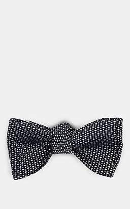 Barneys New York Men's Diamond-Dot Silk Jacquard Bow Tie - Black