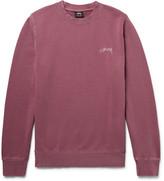 Stussy Embroidered Loopback Cotton-Jersey Sweatshirt