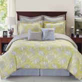 Bed Bath & Beyond Palmetto Citron Reversible Comforter Set in Yellow/Silver