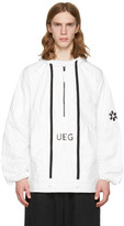 Ueg White Tyvek® Hooded Pullover Jacket