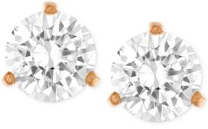 Swarovski Rose Gold-Tone Crystal Stud Earrings