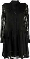 Lala Berlin long-sleeve embroidered dress