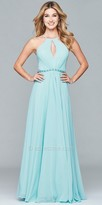 Faviana Chiffon A-line Low Cut Back Prom Dress