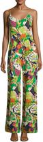 Trina Turk Women's Zadie Silk Printed Wide Cuff Jumpsuit