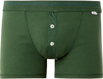 Schiesser Karl Heinz Cotton Boxer Briefs - Men - Green