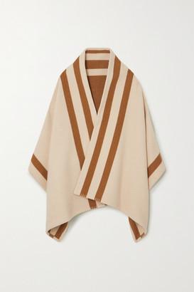 Johnstons of Elgin Striped Merino Wool And Cashmere-blend Wrap - Ecru