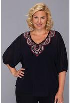 Karen Kane Plus Plus Size Embroidered Tunic