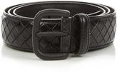 Bottega Veneta Intrecciato embossed-leather 3.5cm belt