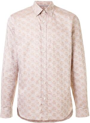 Gieves & Hawkes Ship-Print Long Sleeved Shirt