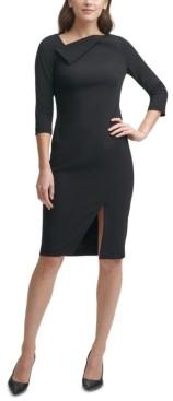 Calvin Klein Asymmetrical Sheath Dress
