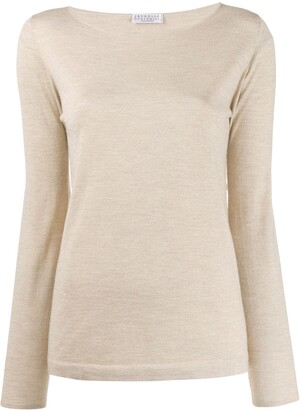 Brunello Cucinelli Boat Neck Top