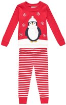 Jojo Maman Bebe Skinny Fit Rib Pajamas (Baby) - Penguin-18-24 Months