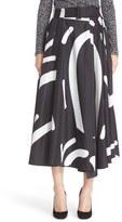 Max Mara Ali Graphic Print Midi Skirt