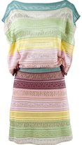 Cecilia Prado striped knit dress - women - Acrylic/Viscose - P