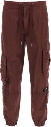 Dolce & Gabbana COTTON CARGO TROUSERS 46 Red Cotton