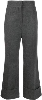 Lemaire high-waisted textured trousers