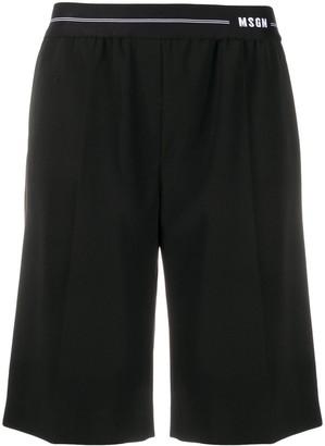 MSGM Elasticated-Waist Bermuda Shorts