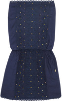 Melissa Odabash Dru Embroidered Voile Coverup - Midnight blue