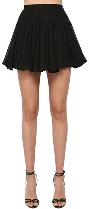 Saint Laurent High Waist Ruffled Mini Skirt