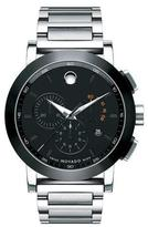 Movado 44mm Museum Sport Chronograph Watch, Silver/Black