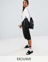 Monki Aysemetric Contrast Midi Skirt