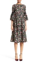 Erdem Women's Floral Print Matelasse Dress