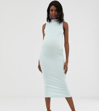 ASOS DESIGN Maternity high neck bandage midi dress