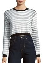 Evil Twin Cropped Striped Sweater