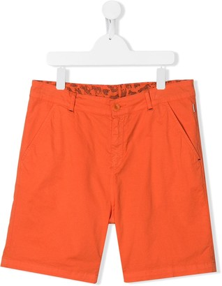 Paul Smith TEEN zebra lined chino shorts