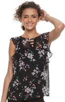 Candies Juniors' Candie's Floral Ruffle Top