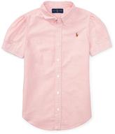Ralph Lauren Pink Classic Oxford Button-Up - Toddler & Girls