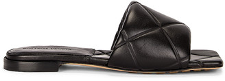 Bottega Veneta Rubber Lido Sandals in Black | FWRD