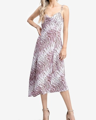 Express En Saison Animal Print Slip Dress