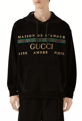 Gucci Embroidered Chenille Hooded Sweatshirt